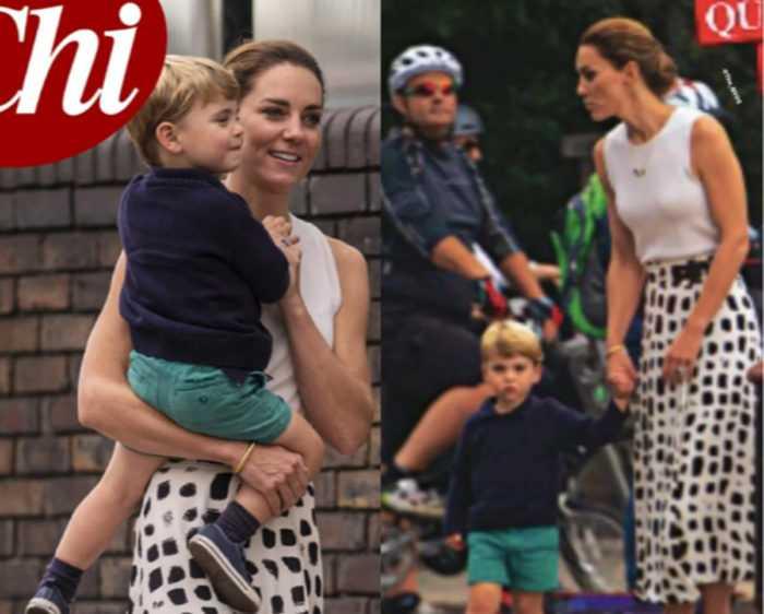 Настоящая и без прикрас: Кейт Миддлтон на прогулке с принцем Луи