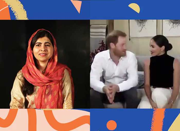 Новое выступление принца Гарри и Меган Маркл - беседуют с Малалой Юсуфзай. Смех. Сквозь слезы